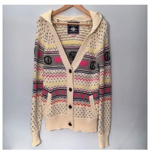 VICTORIAS SECRET PINK Peace Cardigan Size M